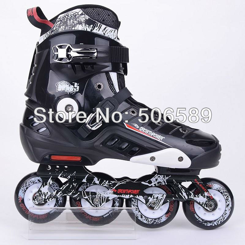 Free Shipping Adult's Skates Growthpower GT5 Black And White