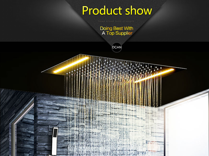 Digital Shower Set Controller Touch Control Panel SUS304 Rainfall Bathroom Thermostatic Control Led Digital Shower Faucet (11)
