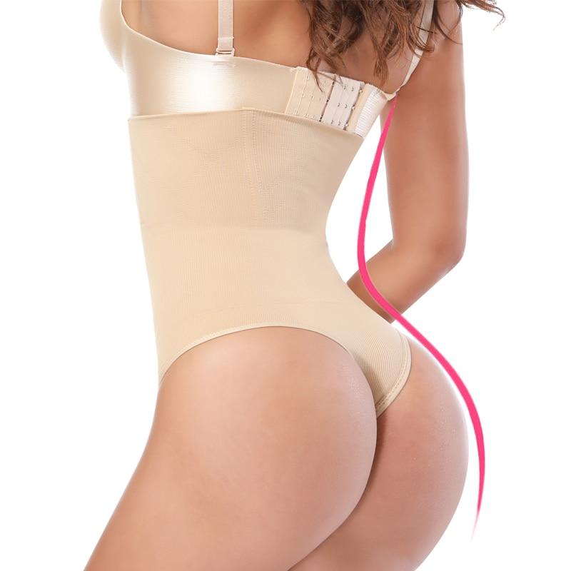 NINGMI Women Butt Lifter Slimming Tummy Control Panties Wedding Dress G-string Body Shaper High Waist Trainer Sexy Thong Knicker
