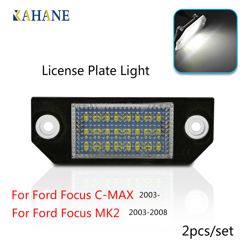 2 Pcs Car Number License Plate Lamp Led Light <font><b>Accessories</b></font> For <font><b>Ford</b></font> Focus C-MAX <font><b>2003</b></font> - for Focus MK2 <font><b>2003</b></font>-2008 image