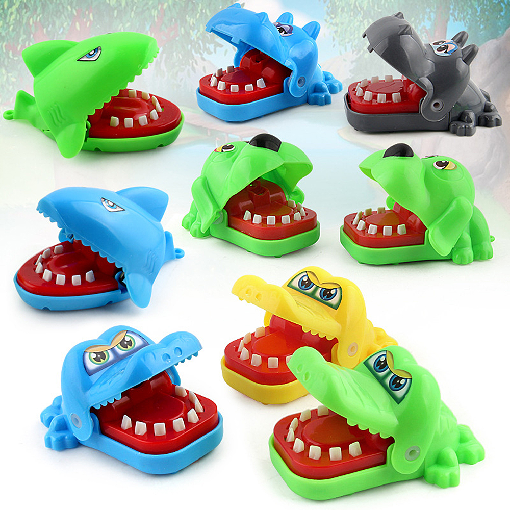 1 pc Funny Kids Mini Crocodile/Dog Dentist Biting Hand Game Toys Children Friends Family Fun Game Baby Gifts image