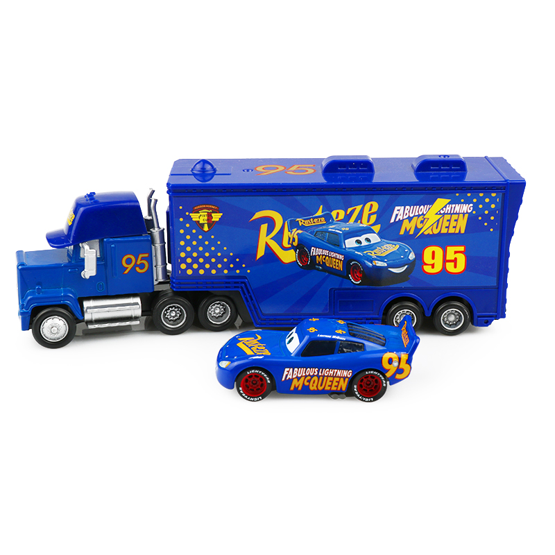 Us 5 69 45 Off Disney Newest Pixar Cars 3 2pcs Fabulous Lightning Mcqueen Mack Uncle Truck Diecast Alloy Model Toys Car Best Gifts For Kids In