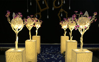 The Magpies Tree Wedding Centerpiece The Glowing LED Road Lead Resin Candlestick Wedding Decoration Furnishing Articles