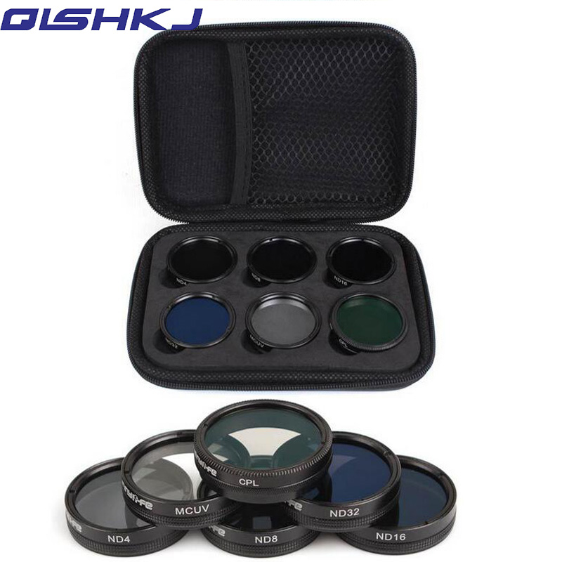 Sunnylife 6Pcs ND4/8/16/32 MCUV CPL Camera Lens Filter Set/Kit for for DJI Phantom 4 PRO/ PRO+/Advanced+ Free ShippingSunnylife 6Pcs ND4/8/16/32 MCUV CPL Camera Lens Filter Set/Kit for for DJI Phantom 4 PRO/ PRO+/Advanced+ Free Shipping