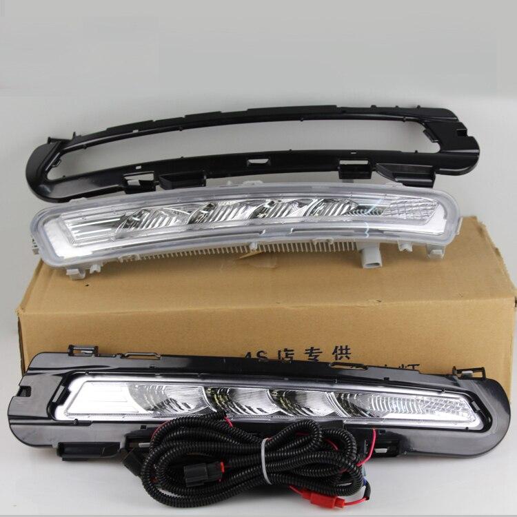 Бесплатная доставка, реле и Водонепроницаемый автомобилей светодиодные DRL дневные ходовые огни противотуманная фара для Форд Мондео 2011 2012