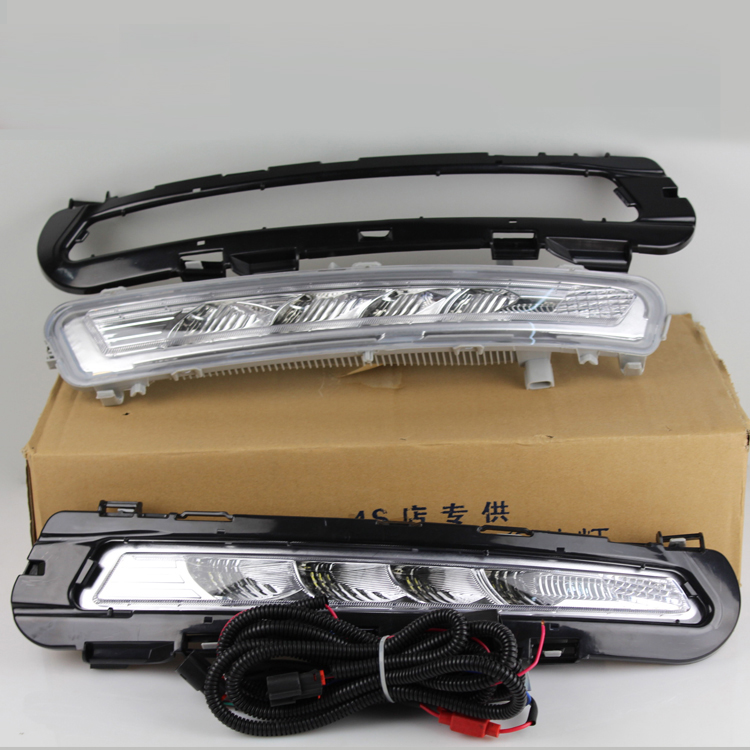 Free shipping, Relay and Waterproof Led CAR Light DRL Daytime running lights fog lamp for Ford Mondeo 2011 2012