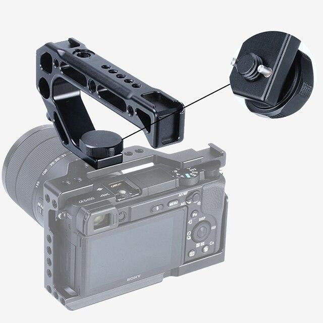 UURig R008 Camera Top Handle Hand Grip Handgrip Arri Locating Screw Monitor Mic Rig Cold Shoe for Nikon Canon Sony DSLR Camera