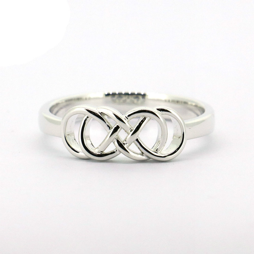 купить Wellmade Solid 925 Sterling Silver Double Infinity Ring недорого