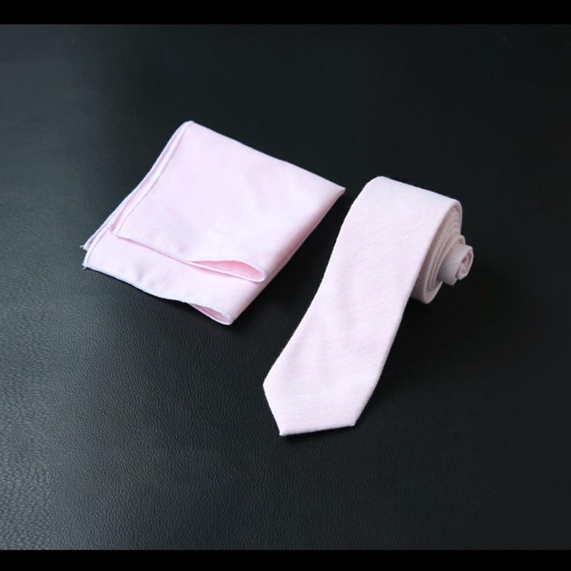 Хлопковый галстук, Одноцветный галстук, квадратный карман 6 см, комплект из двух предметов, оптовая продажа, черный, темно-синий, на заказ