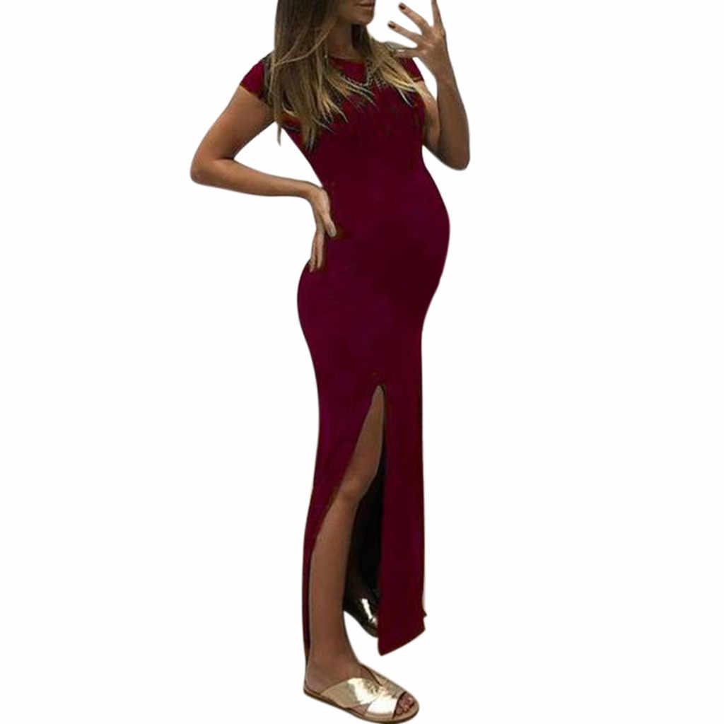 MUQGEW יולדות בגדי קיץ קיץ בהריון נשים חתונה שמלת להנקה בהריון שמלת קיץ # p8