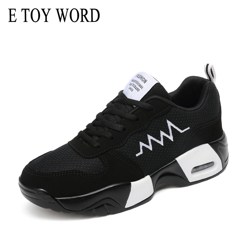 E TOY WORD fashion casual brand 2018 spring sneakers platform women shoes breathable woman trainers ladies footwear female vesonal brand faux fur women shoes flats 2017 winter warm velvet female fashion ladies woman sneakers casual footwear tsj 189