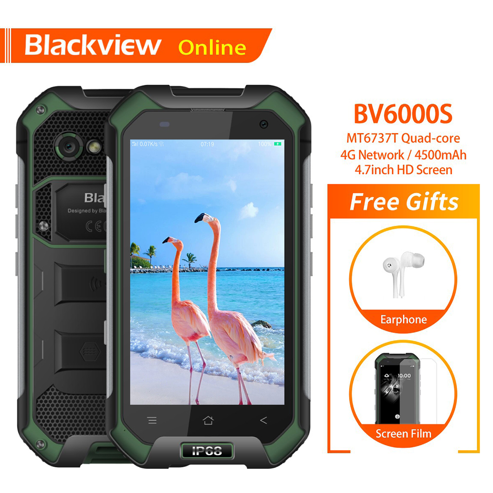 Blackview BV6000S 4 7 Rugged Smartphone IP68 Waterproof 2GB 16GB MT6737T Quad Core 4500mAh GPS Tough