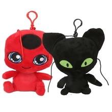 6'' Ladybug Girl Plush Toy Lady Bug&cat Noir Plush Pendant Clip Keychain Soft Stuffed Animals Toys For Kids Children Xmas Gifts средство для мытья посуды frosch зеленый лимон 500 мл