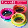 3d Ручка abs нить 1 75 мм Материалы для 3D принтера Ручка безопасный пластик дети DIY подарки детям подарок на день рождения 20 ярких цветов