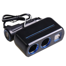 SHUNWEI 12 V carregador USB 3 Soquete Multi Auto Splitter Power Adapter Charger Auto Accessoires