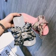 лучшая цена Shoes Women Summer 2019 Flat Slippers Outside Autumn Flip-Flop Indoor Home Sandals Slides Beach Non-Slip Ladies Luxury Designers