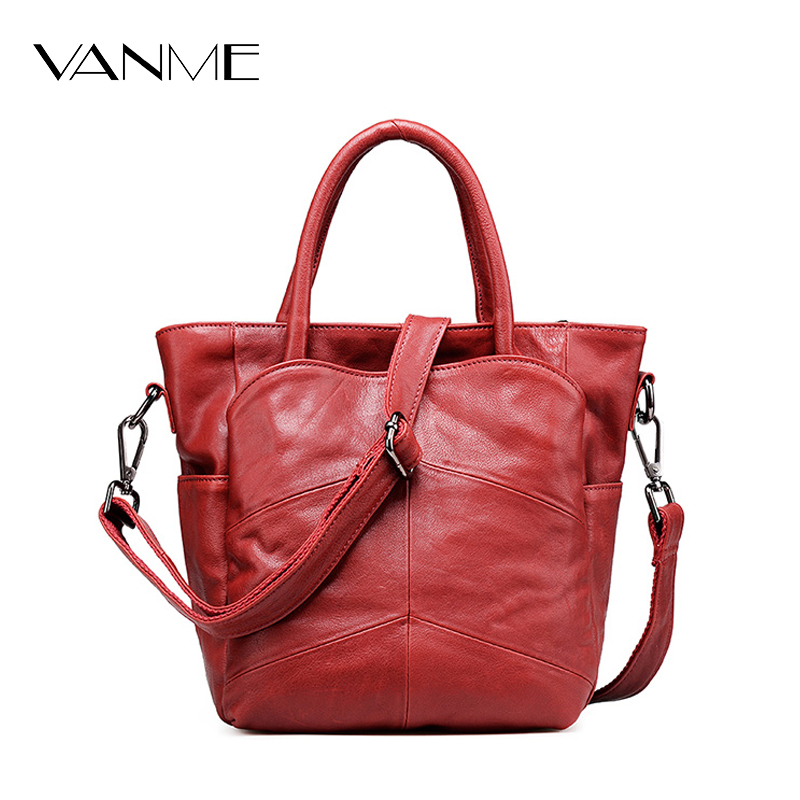 Women's First Layer of Leather Handbags Casual Shoulder Bag Famous Brand Genuine Leather Women Messenger Bags Femme De Marque