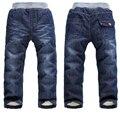BibiCola детские джинсы брюки повседневные джинсы дети осень зима брюки детские мальчики девочки сгустите теплый хлопок длинные брюки