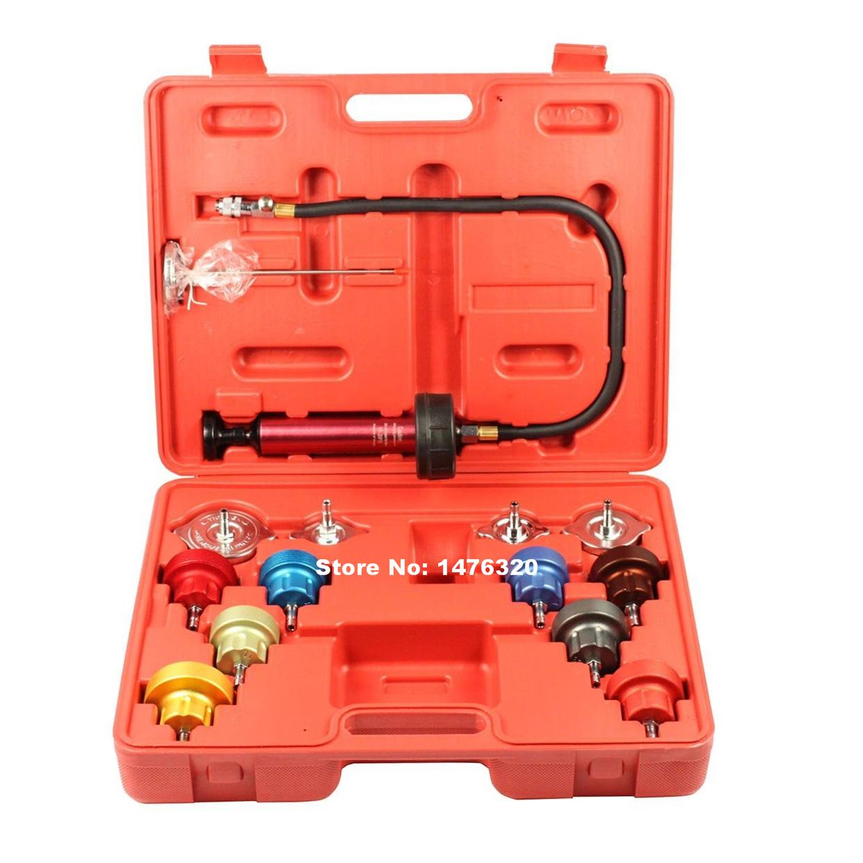 Automotive Radiator Pump Pressure Cooling Leak Diagnostic Tester Checker Kit AT2174
