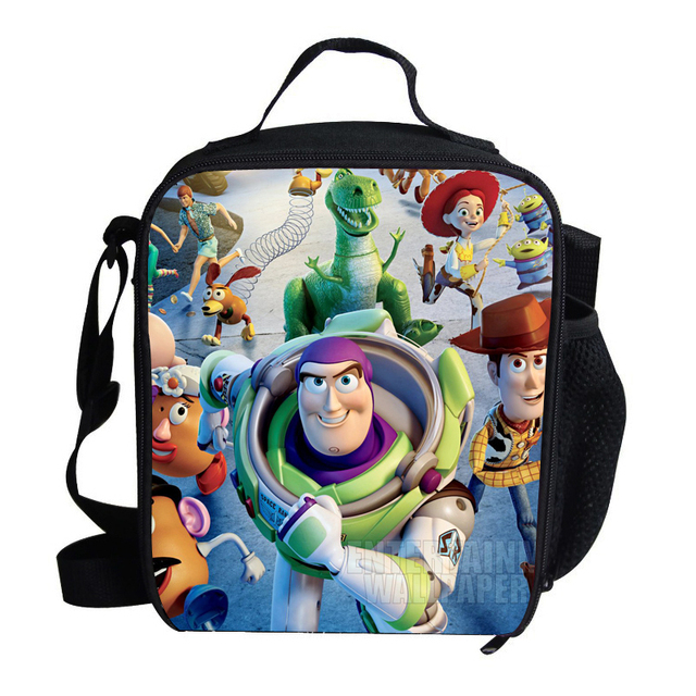 5743ad070b7 Hot Small Cartoon Character Lunch Bag For Kids Toy Story Buzz Lightyear  Woody Roundup Cowboy Lunch Bag For Children Boys Girls