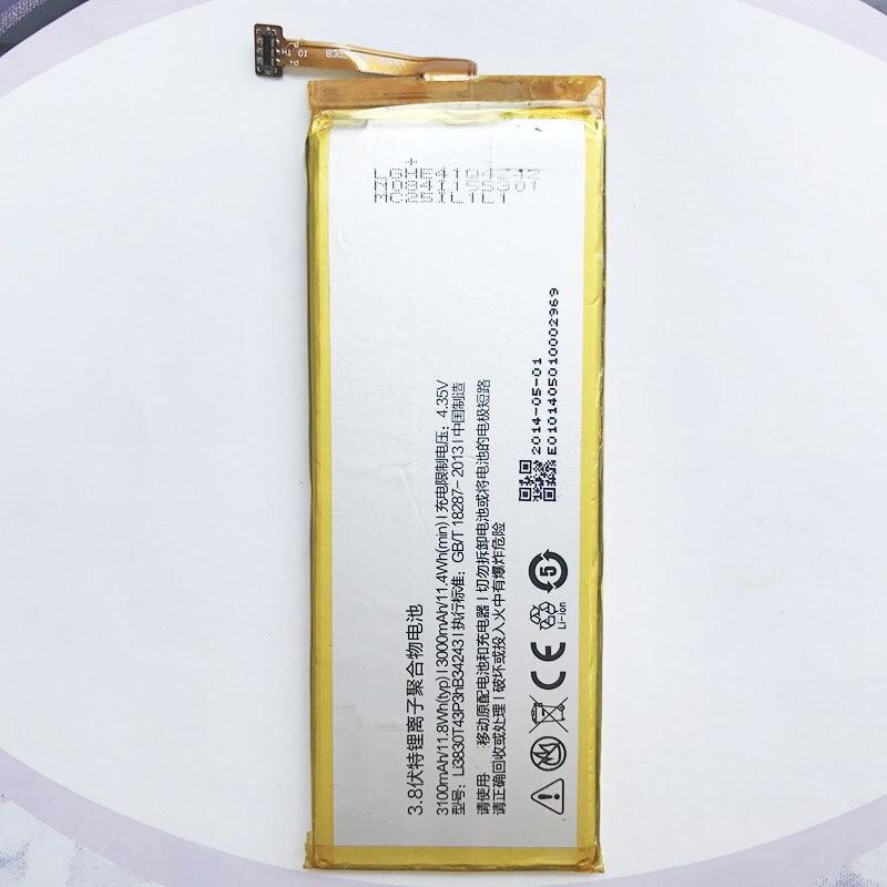 Original de alta calidad 3100 mAh batería de la batería LI3830T43P3HB34243 para ZTE Nubia Z7 MAX NX505J batería pila batería
