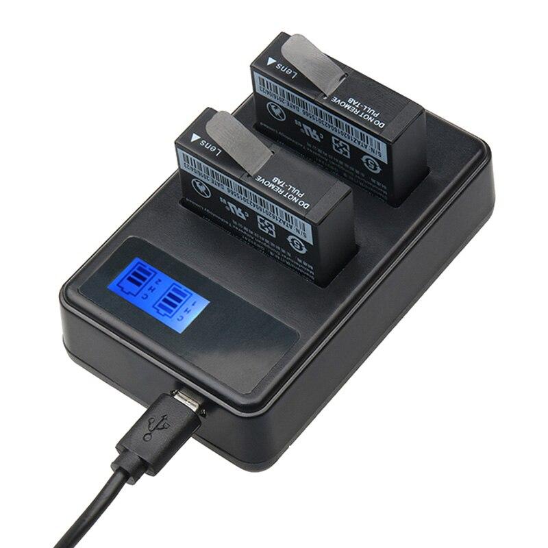 2 Pz Batterie PER Xiaomi YI lite 4 k 4 K plus + LCD USB Doppio Caricatore Per Macchina Fotografica di Azione Xiaoyi II 1400 mAh 3.85 V Batteria