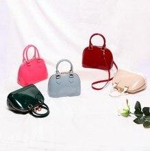 Bolsa casual feminina de silicone, nova bolsa casual de silicone doce com alça carteiro, bolsa de ombro para mulheres, verão 2019