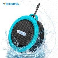 VICTSING Rechargeable Bluetooth Speaker Stereo Wireless Sports SoundBox IPX5 Waterproof 5W Power Speaker Hands Free Suction