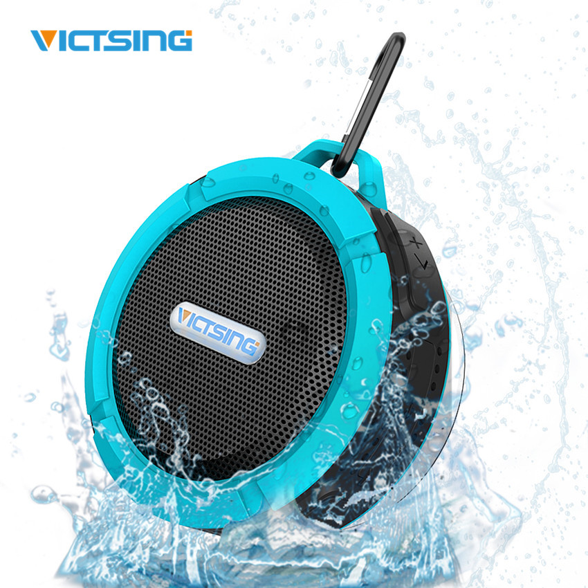 VICTSING Wireless Bluetooth Speaker Waterproof Handsfree 5W portable Speakers Phone SoundBox With Mic Removable Suction Cup New waterproof bluetooth v3 0 bathroom speaker w microphone suction cup camouflage green