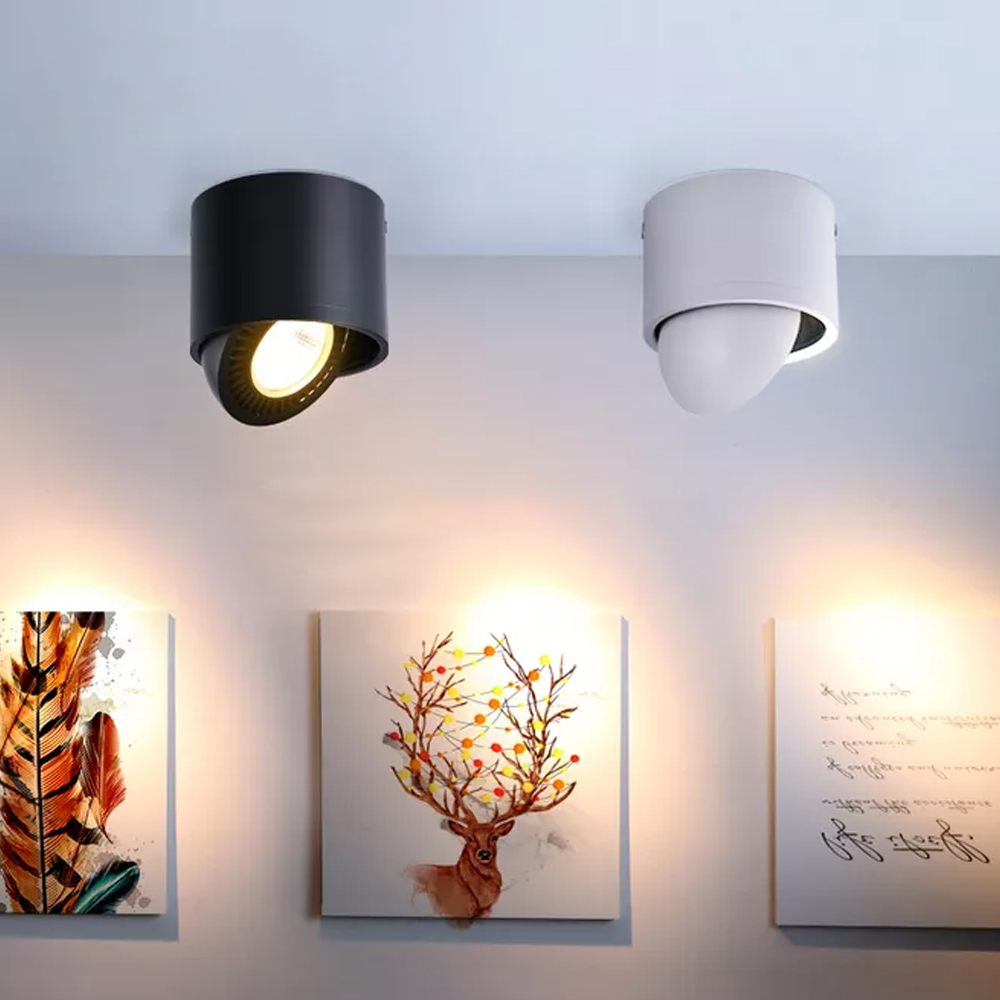 HTB1myzFPhYaK1RjSZFnq6y80pXaZ LED Surface mounted Ceiling Light 5w 7w 9w 15w Dimmable Ceiling Lamp 360 degree rotatable COB background spot light For Home