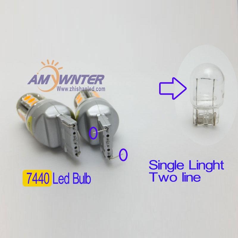 T20 7443 12V светодиодна двойна светлинна - Автомобилни светлини - Снимка 3