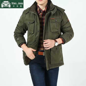 Plus Size 8XL 2020 Brand Army Mens Winter Warm Thicken Jackets & Coats 100% Cotton Comfortable and Warm Military Style Jackets