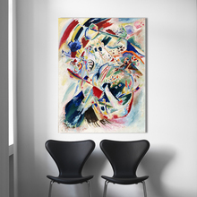 Abstract Wall Art Pictures For Living Room Wassily Kandinsky Home Decor Canvas Painting Panel for Edwin R Campbell No4 цена и фото