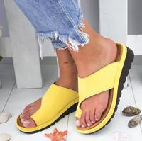 Women Platform Casual Flip Flops Ladies Solid PU Leather Summer Slingback Shoes Female Beach Shoes Woman 2019 Hot Sale Slippers