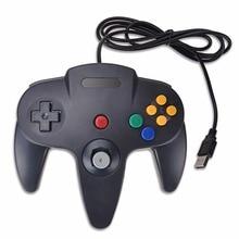 Iseebiz Wired Gamepad PC Nintendo N64 vezérlő Mac számára N64 USB Joystick Gamepads PC-hez Kiváló minőségű