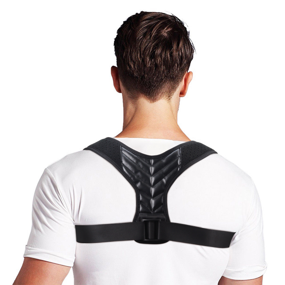 Aptoco Adjustable Back Posture Corrector Wrist Brace Clavicle Spine Back Shoulder Lumbar Prevents Slouching Injury Aid