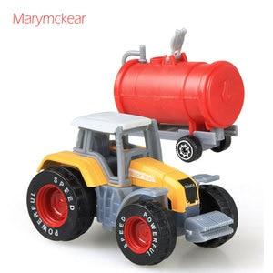 Image 4 - 1個トラクターおもちゃの農民車ミニ車のモデルピックアップおもちゃのための4色トラクターjuguete取り外し可能なダイキャストトラックのおもちゃ
