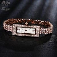 Xinge Marque 2018 Nouveau Cristal Diamant Bracelet Femmes Montres De Luxe Dames De Mode Quartz-montre Robe Rectangle Design Horloge