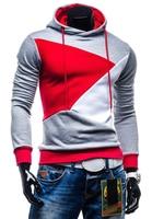 Brand 2017 Hoodie Hit Color Stitching Hoodies Men Fashion Tracksuit Male Sweatshirt Off White Hoody Mens