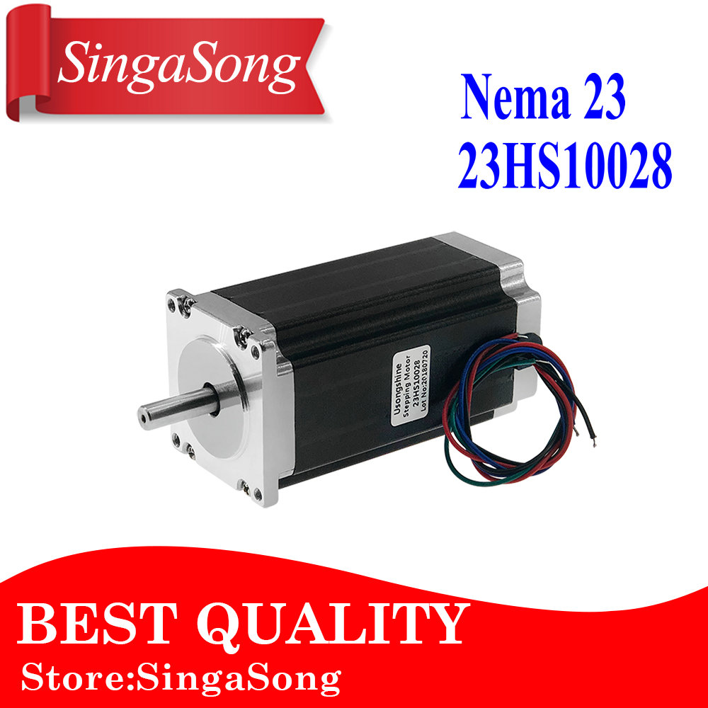 1 pcs 23HS10028 4-lead Nema 23 Stepper Motor 57 motor NEMA23 3.5A CE ROSH ISO CNC for 3D Printer Robot Foam Plastic Metal