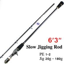 Free Shipping 1.9m 1+1 Section Jigging Rod Fishing Rod FUJI REEL SEAT AND RING Jig Rod CW 20-180g Slow Jigging Rod