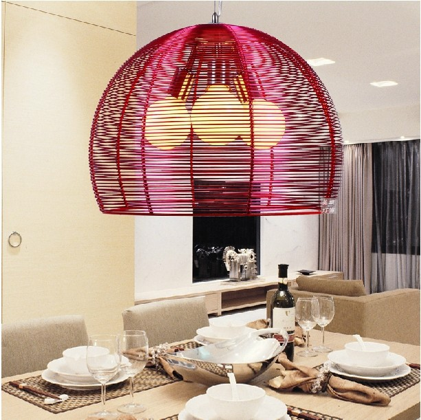2015 new modern minimalist three creative bar restaurant chandelier lighting lamps bedroom living room den aluminum wire ba цена и фото