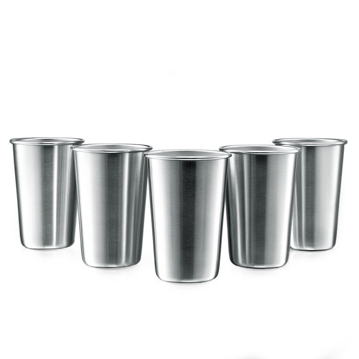 Online Techome 5 Pcs Stainless Steel Pint Cups Beer Tumblers Coffee Mugs Stackable Whole Dropshipping Aliexpress Mobile