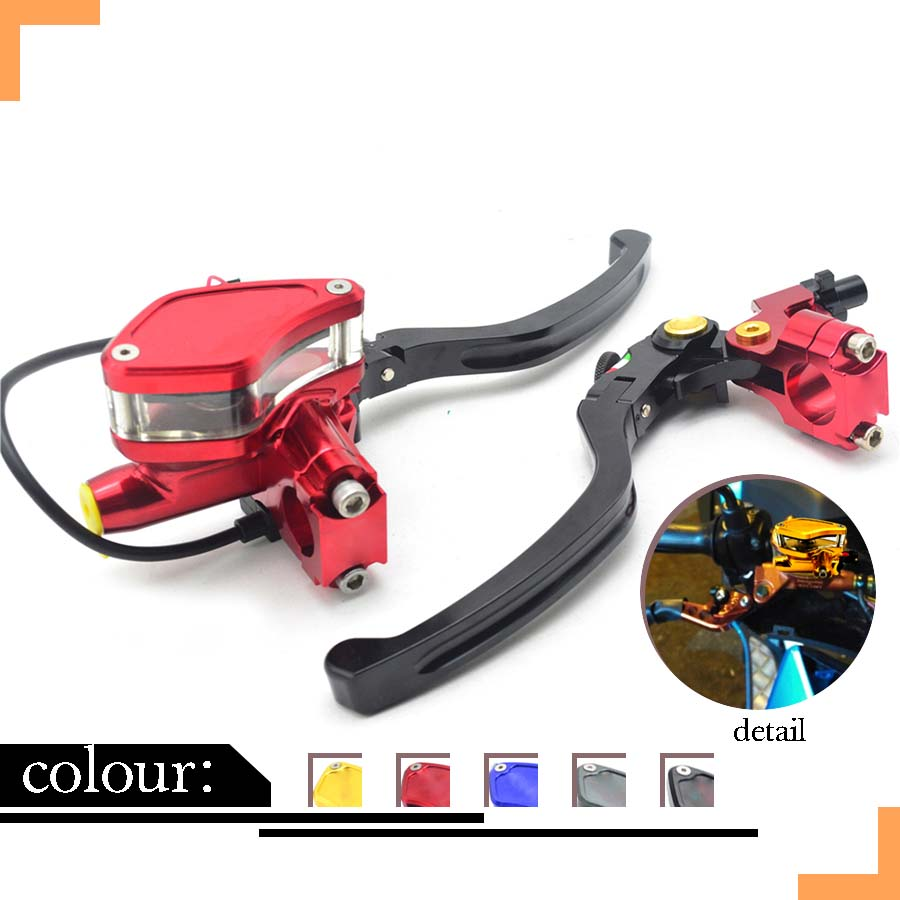 1 Pair CNC Aluminum Motorcycle Scooter Modification Double Disc Brake Lever Universal Red Clutch Lever