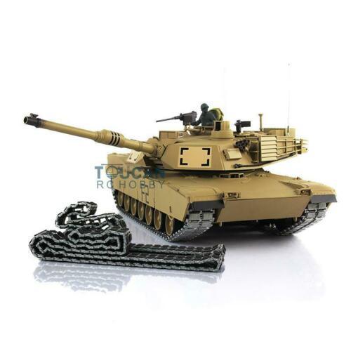 Henglong 1/16 6.0 Abrams RC Tank 3918 360 Turret Barrel Recoil Metal Tracks TH12943