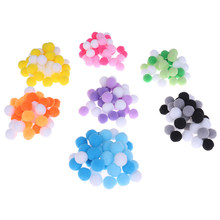 40Pcs/Bag Soft Round Fluffy Craft PomPoms Balls DIY Slime Beads Slime Supplies Accessories For Foam Slime Putty(China)