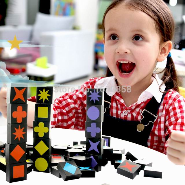 Children Educational Toy Kids Present Holiday Greetings Gifts Stationery Qwirkle 108 Wooden Tiles Family Games Box