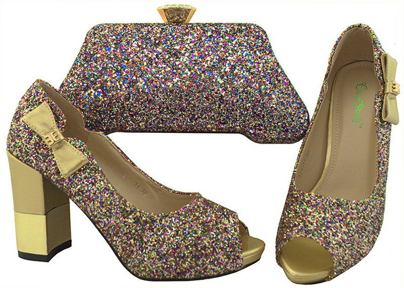 Italian Design Shoes and Bag To Matching Shoe and Bag Set For Party Nigerian Women Fashion Shoe and Bag Set  BCH-31A fashion italy design italian matching shoe and bag set african wedding shoe and bag sets women shoe and bag to match tmm1 41