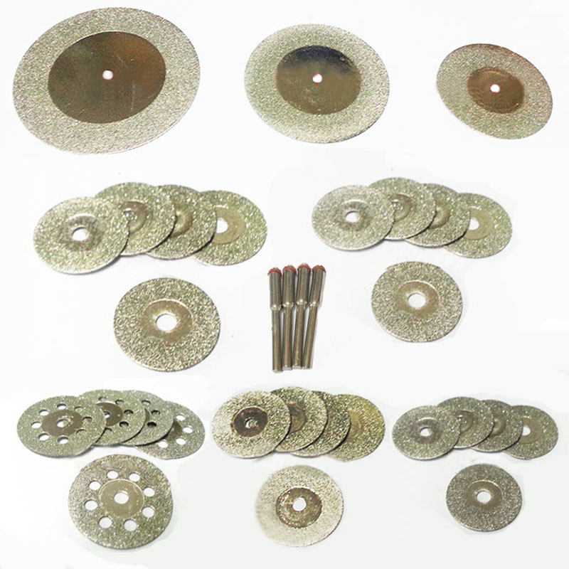 Diamant disque de coupe pour dremel accessoires mini foret ensemble lame de scie diamant meule outil rotatif roue scie circulaire