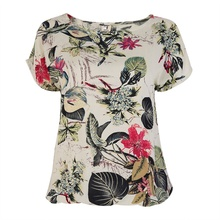 2017 Summer Fashion Korean Floral Print Women's Blouses Ladies Shirts Tops Casual Shirt  Blouse Female  S-XXL